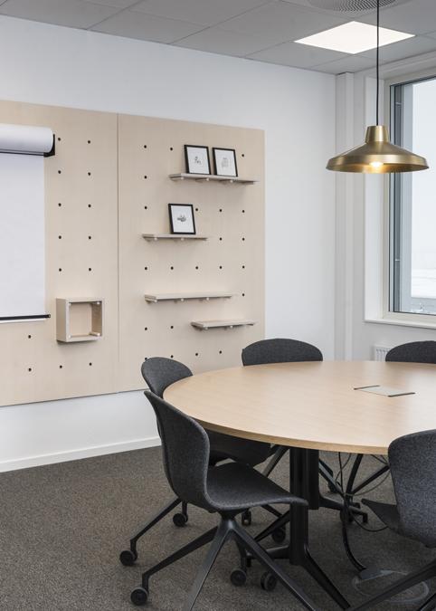 LITTERÆRE STEDER: Eksempel på internt møterom i Bibliotekenes Hus, inspirert av Flåklypa.