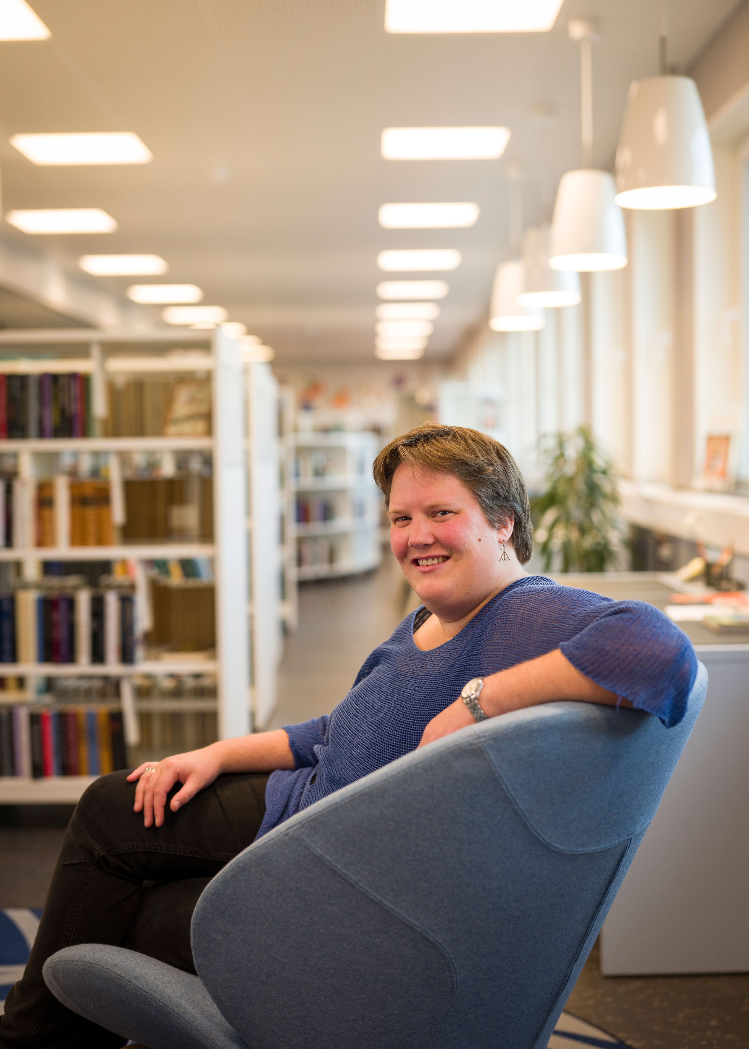 Om å håndtere mediene. Kaia Svaan, biblioteksjef i Grue.
