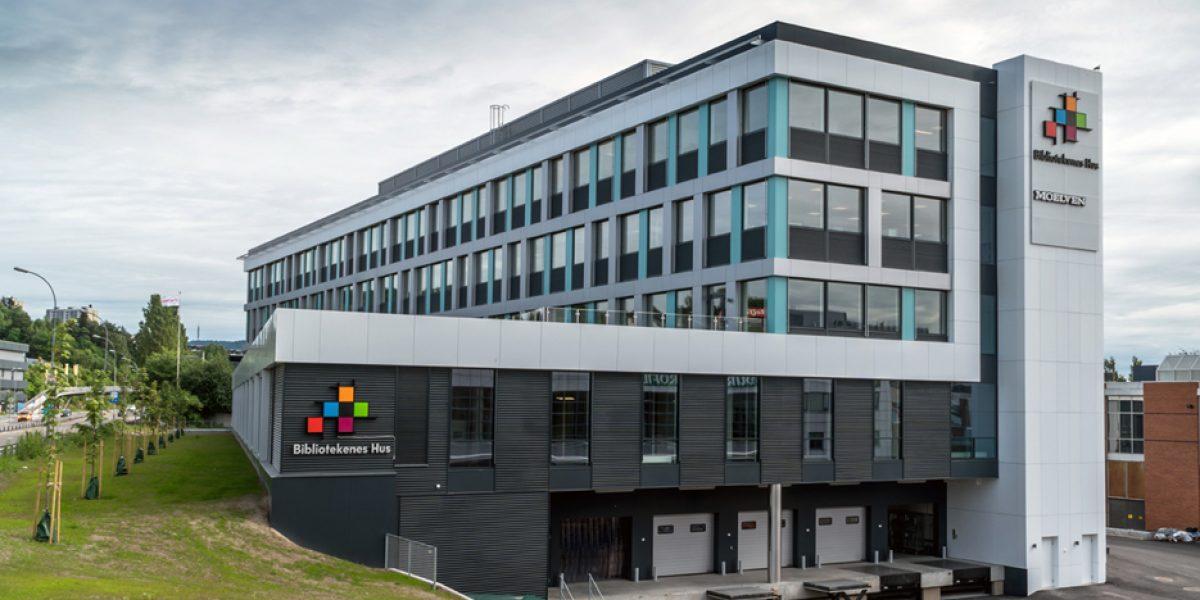 De fem selskapene i Bibliotekenes Hus er på plass i nytt hus i Alf Bjerckesvei 20.
