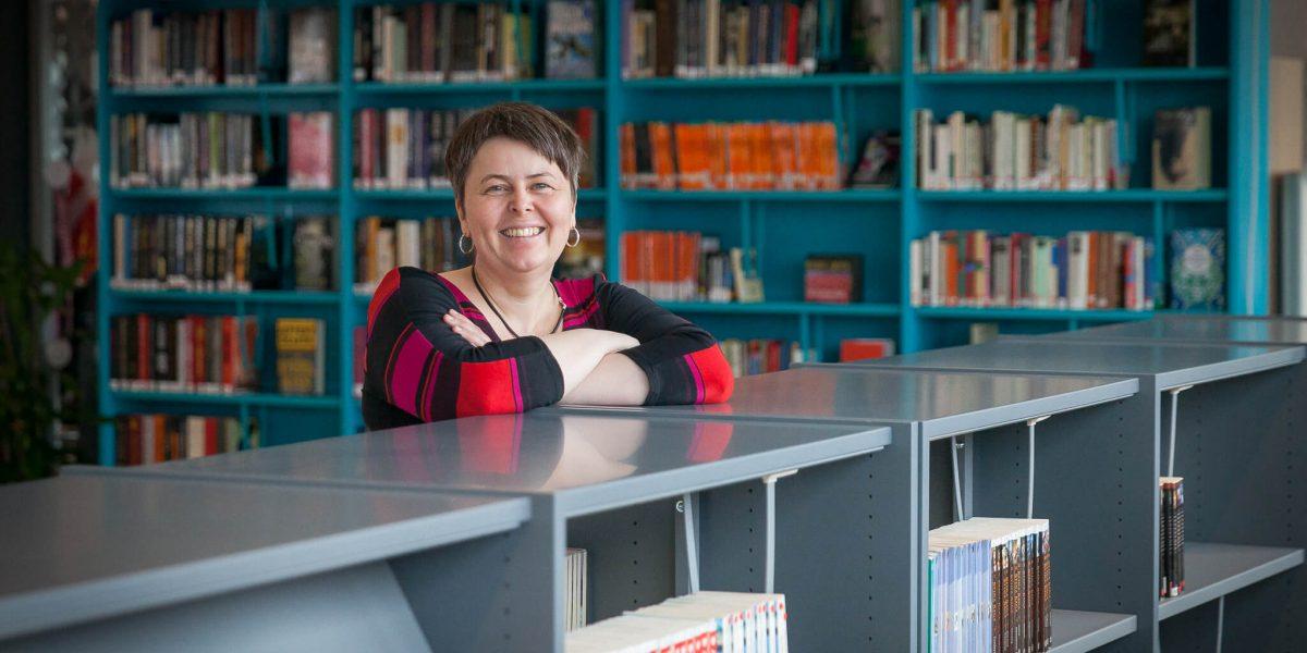 Tonje Farset, biblioteksjef i Narvik. Foto: Kalle Punsvik
